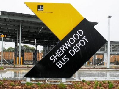 Sherwood Bus Depot Sign