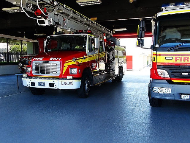 QLD Fire & Rescue - Epoxy Flooring Multiblast