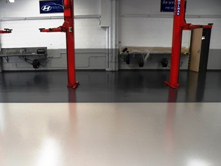 Polished concrete inside manufacturing plant Brisbane